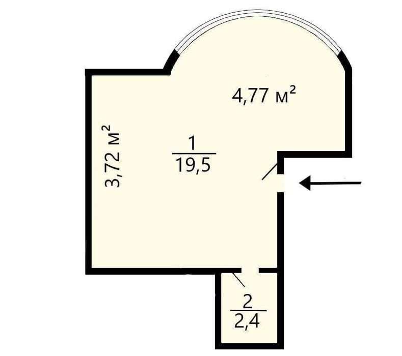 1-Spálňový apartmán Predať  Kyjiv