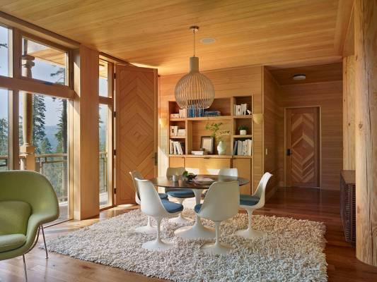 Идея стильного дома в горах: вилла в Калифорнии