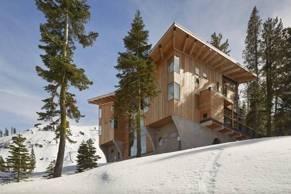 Ідея стильного будинку в горах: вілла у Каліфорнії